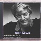 Nick Lowe Live 1987 San Jose California Civic Auditorium CD