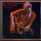 Nick Lowe Live 1987 Irving California University + 1990 Rhino Records CD