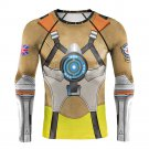 Men's Long Sleeve Tracer 3D Compression Fitness MMA Printed Shirt
