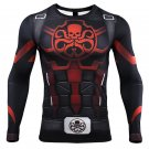 Men's Long Sleeve Hydra 3D Compression Fitness MMA Printed Shirt