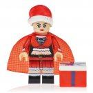 Christmas Supergirl Action Figure Minifigure Block Bricks Toy Doll