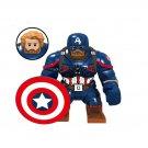 Captain America Action Figure Minifigure Big Figure Collectible Doll Toy Decoration
