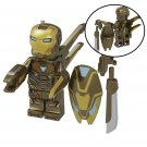 Gold Iron Man MK 50 Action Figure Minifigure Block Bricks Toy Doll