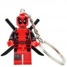 Deadpool Action Figure Block Bricks Toy Doll Keychain