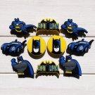 Batman Charms Set PVC Shoe Buckle Accessory Fits Bracelet Croc Shoes