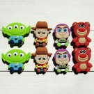 Toy Story Shoe Charms Set PVC Shoe Buckle Accessory Fits Bracelet Croc Shoes