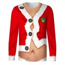 Ugly Beer Gut Long Sleeve 3D Christmas Shirt Office Party Fun Gag Gift