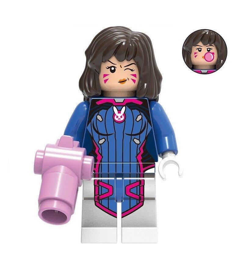 Overwatch D.Va Action Figure Minifigure Block Bricks Toy Doll