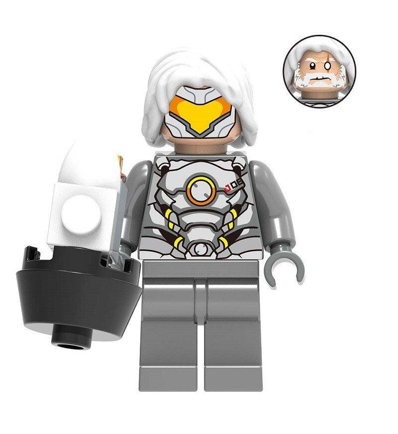 Overwatch Reinhardt Action Figure Minifigure Block Bricks Toy Doll