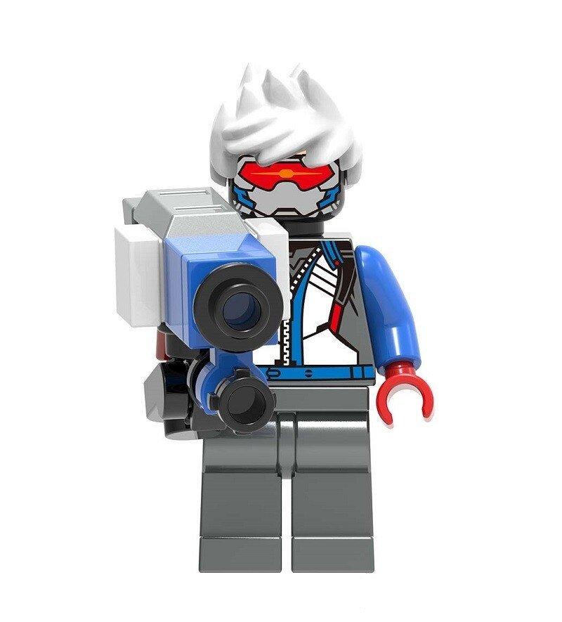 Overwatch Soldier 76 Action Figure Minifigure Block Bricks Toy Doll