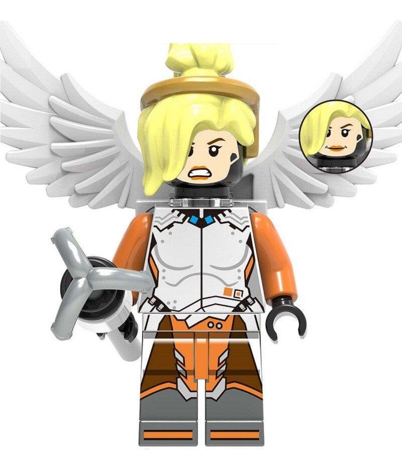 Overwatch Mercy Action Figure Minifigure Block Bricks Toy Doll