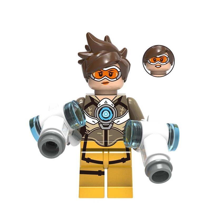 Overwatch Tracer Action Figure Minifigure Block Bricks Toy Doll
