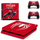 Spider-Man Vinyl PS4 Game System Stickers Set Skin Decals Stickers For Console and 2 Controllers