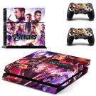 Avengers Vinyl PS4 Game System Stickers Set Skin Decals For Console and 2 Controllers