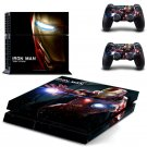 Iron Man Vinyl PS4 Game System Stickers Set Skin Decals For Console and 2 Controllers