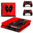 Deadpool Vinyl PS4 Game System Stickers Set Skin Decals For Console and 2 Controllers
