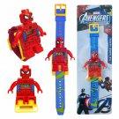 Spider-Man Action Figure Blocks Minifigure Digital Watch Toy Doll