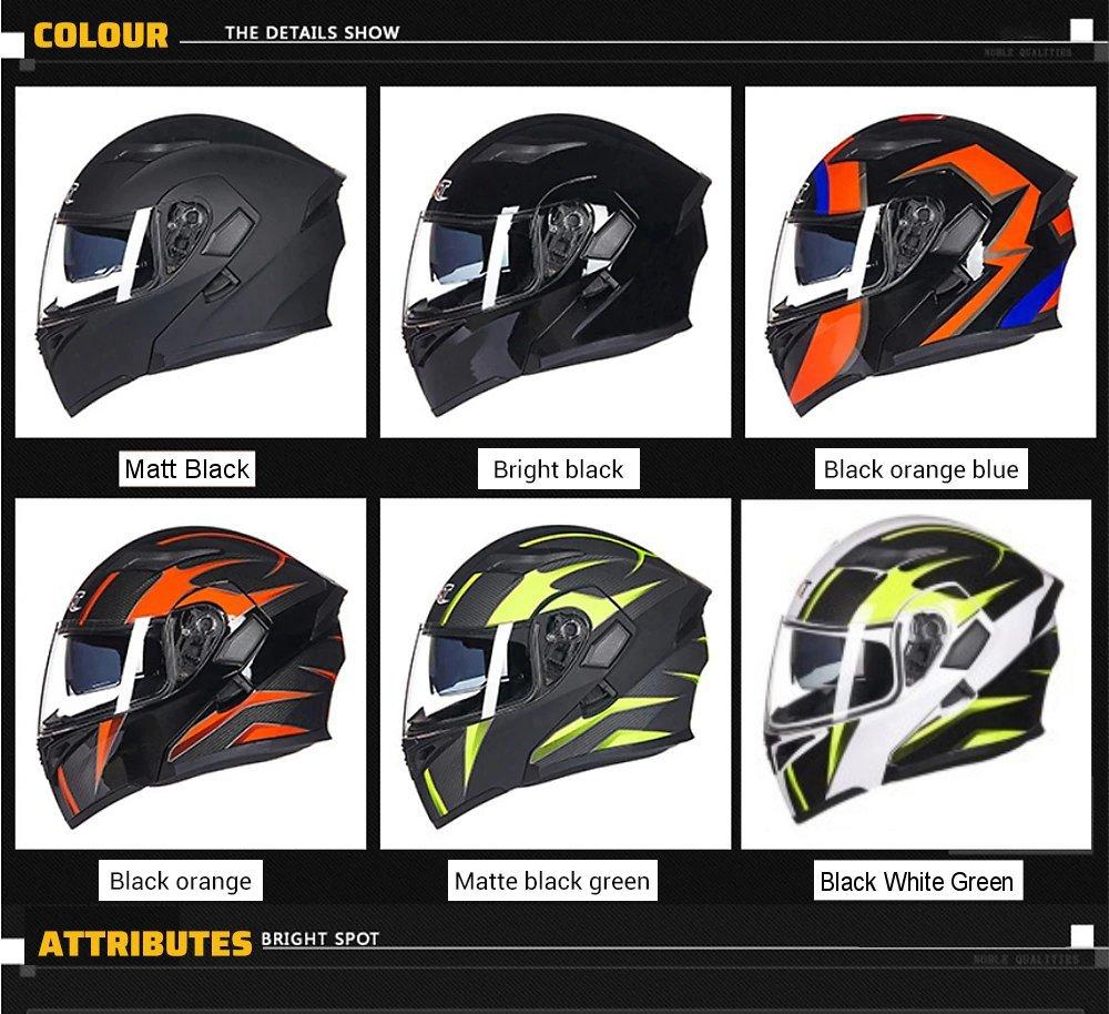 GXT Motorcycle Helmet 6 Style Flip up Modular Double Lens Racing Riding Helmets