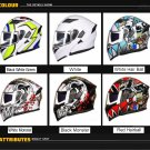 GXT Motorcycle Helmet 6 different colour Flip up Modular Double Lens Racing Riding Helmets
