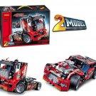 DECOOL 3360 Race Truck Car 2 In 1 Transformable Model (42041) 608 Pcs Building Block *FREE* Shipping