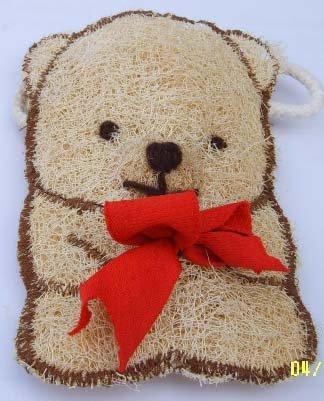 Natural Loofah (Teddy bear3)