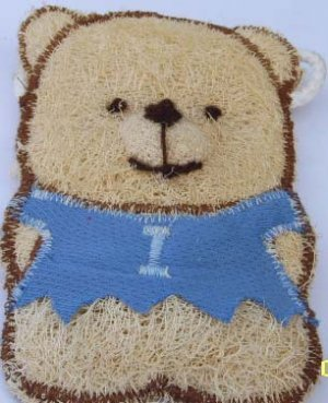 Natural Loofah (Teddy bear5)