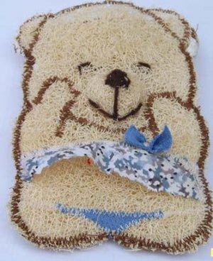 Natural Loofah (Teddy bear7)