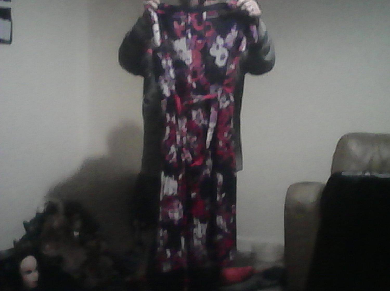 ladies purple dress long