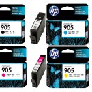 HP 905 4-Color BK/C/M/Y Ink Cartridges (for OfficeJet Pro 6960/6970) - Assorted #12539
