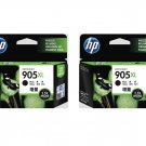 HP 905XL High Yield Ink Cartridges (Twin Pack) (for OfficeJet Pro 6960/6970) - Black #12537