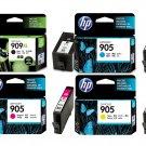 HP 909XL Black + HP 905 C/M/Y Ink Cartridges (for OfficeJet Pro 6960/6970)(4pcs) - Assorted #12541
