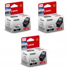 Canon PIXMA PG-740XL High Capacity Ink Cartridges (for MG4270/MG4170) (3pcs) - Black #12481