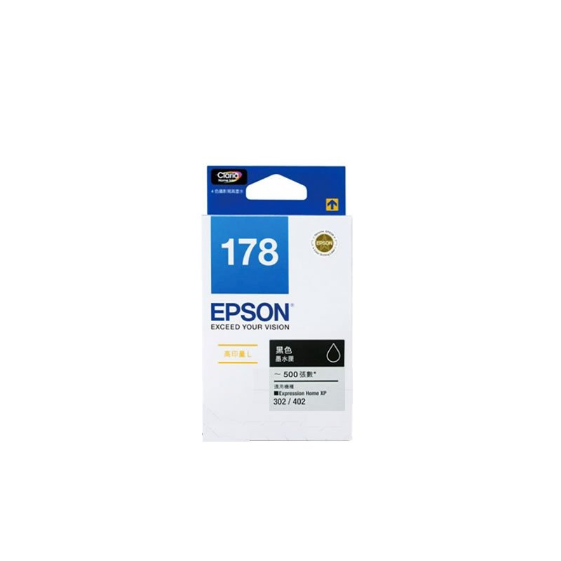 Epson 178 High Capacity Ink Cartridge (for XP-402/XP-422) - Black #12021