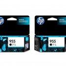 HP 955 Ink Cartridges (Twin Pack) (for OfficeJet Pro 8720/8730/8740) - Black #12531