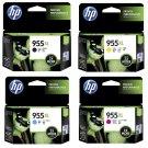 HP 955XL 4-Color BK/C/M/Y Ink Cartridges (for OfficeJet Pro 8720/8730/8740) - Assorted #12534
