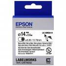 Epson LABELWORKS LK-6WBA14 14mm Heat Shrink Tube Tape Cartridges (Pack of 2) - Black on White #15011