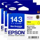 Epson 143 Extra High Capacity Ink Cartridge (Pack of 3) - Yellow Ink #15486