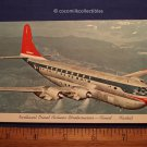 Postcard 1950s Northwest Orient Airines Double Deck Boeing Stratocruiser Flying