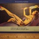 1940 Glamour Girl Brief Attire Garter Belt Stockings and Bra On Lounge Linen