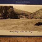1950s Railway Bridges At Liska Fraser Canyon British Columbia Canada Real Photo