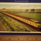 1940s Union Pacific Streamliner City Of Los Angeles Passenger Train Color Linen