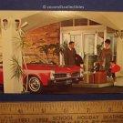 Postcard 1960 Holiday Inn Parkersburg WV Vintage 1960s Pontiac GTO Or Tempest