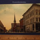 Postcard 1915 West Third Street Jamestown New York Western Union Office Church
