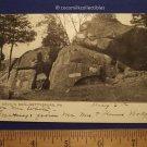 1906 Devil's Den Gettysburg Pennsylvania Civil War Black White Posted Card Stamp