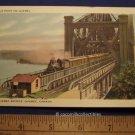 1930s Quebec Bridge Train Coming Down The Tracks Le Pont De Quebec Canada Color