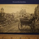 Postcard 1917 WWI French Troops In a Destroyed City France wins Chauny Aisne
