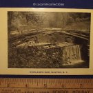 Postcard 1940s Howland's Dam Walton New York Black And White Not Posted Scenic