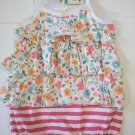First Impression Baby Girl's Flower Sleeveless jumpsuit sunsuit - 0-3 / 3-6 Months
