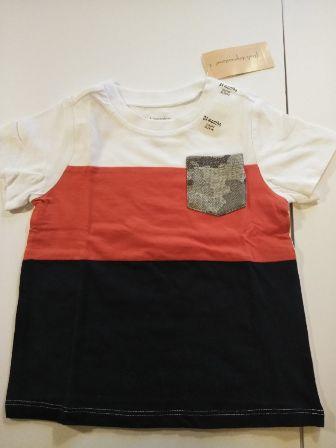 First Impression Baby's Multi Color Short Sleeve Tee Shirt Sizes - 3 - 24 Months