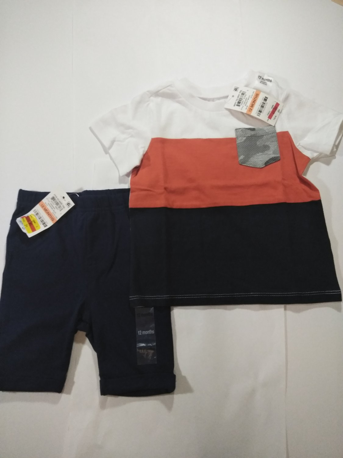 First Impression Multi Color Baby's 2 Piece T Shirt & Short -24 Months